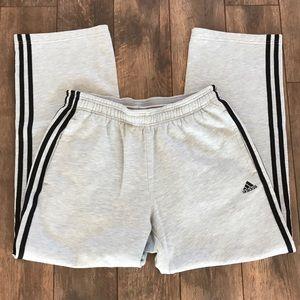 Adidas M White With Black Striped Sweatpants